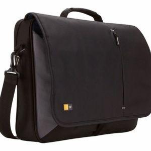 NWT Case Logic - Messenger Laptop Bag - Black